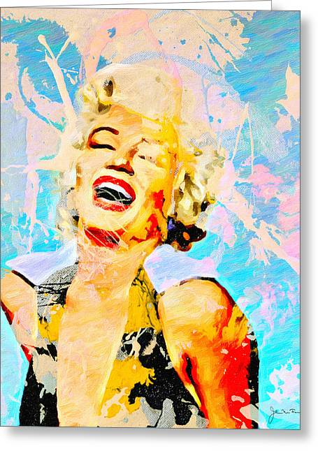 Norma Jean Paintings Greeting Cards - Smile Smile Smile Greeting Card by John Farr
