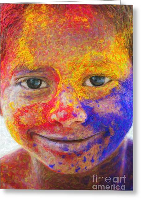 Smile Your Amazing Greeting Card by Tim Gainey