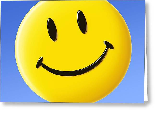 Smiley Faces Greeting Cards - Smiley Face Symbol Greeting Card by Detlev Van Ravenswaay