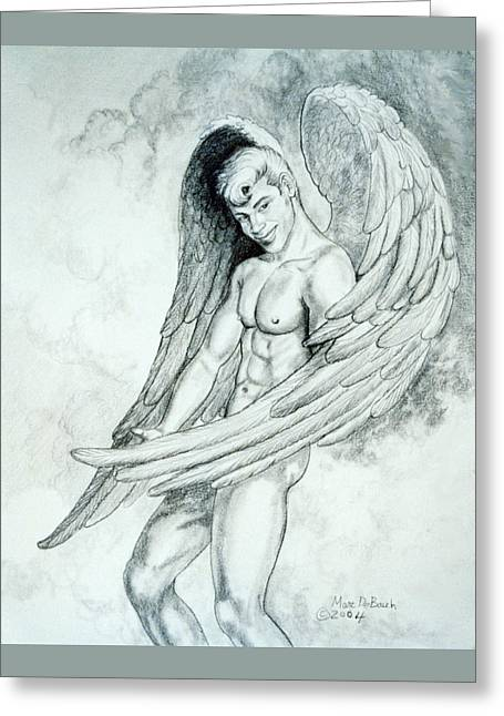 Smiling Angel Greeting Card by Marc DeBauch