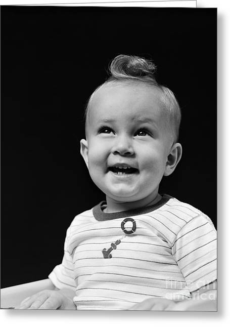 Smiling Baby Boy, C.1940s Greeting Card by H. Armstrong Roberts/ClassicStock