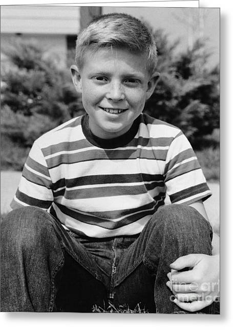 Smiling Boy, C.1960s Greeting Card by H. Armstrong Roberts/ClassicStock