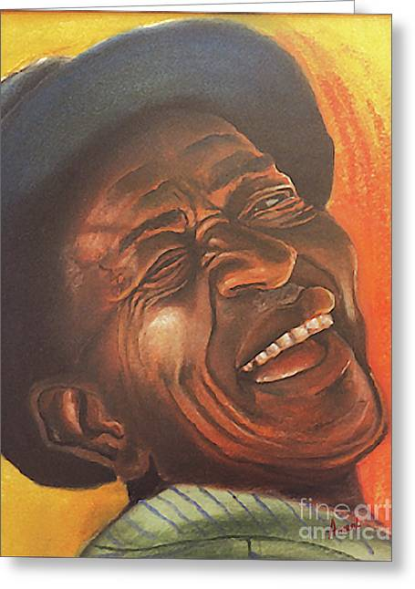 Smile Pastels Greeting Cards - Smiling Sam Greeting Card by George Ameal Wilson