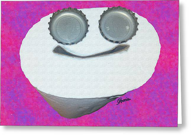 Smiling Tp Greeting Card by Pharris Art