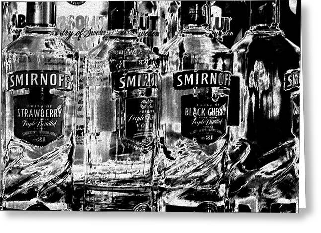 Booze Greeting Cards - Smirnoff Vodka Greeting Card by David Patterson