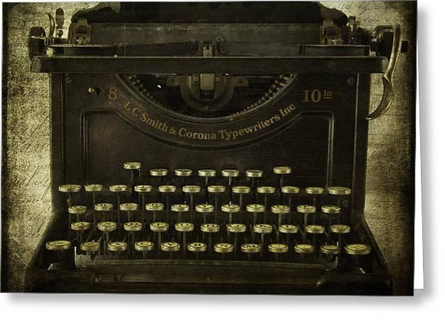 Smith And Corona Typewriter Greeting Card by Cindi Ressler