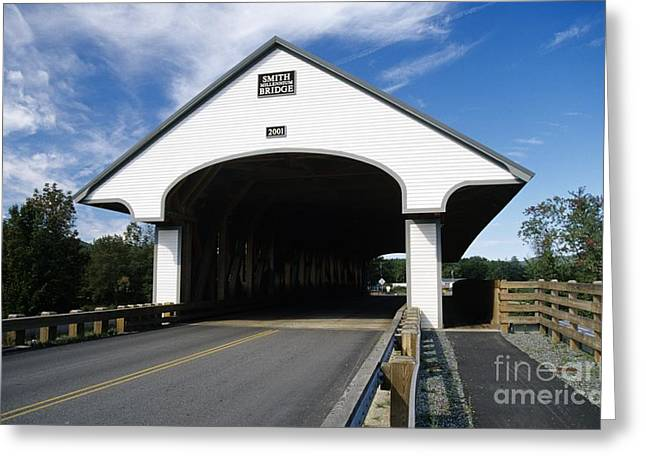 Scenic Greeting Cards - Smith Covered Bridge - Plymouth New Hampshire USA Greeting Card by Erin Paul Donovan