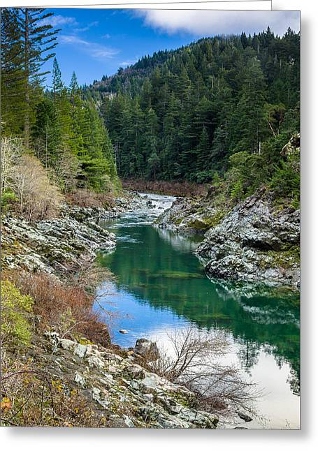 Reflections In River Greeting Cards - Smith River Tranquility Greeting Card by Greg Nyquist