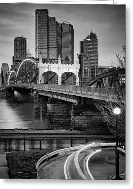 Allegheny Greeting Cards - Smithfield street bridge 7 Greeting Card by Emmanuel Panagiotakis