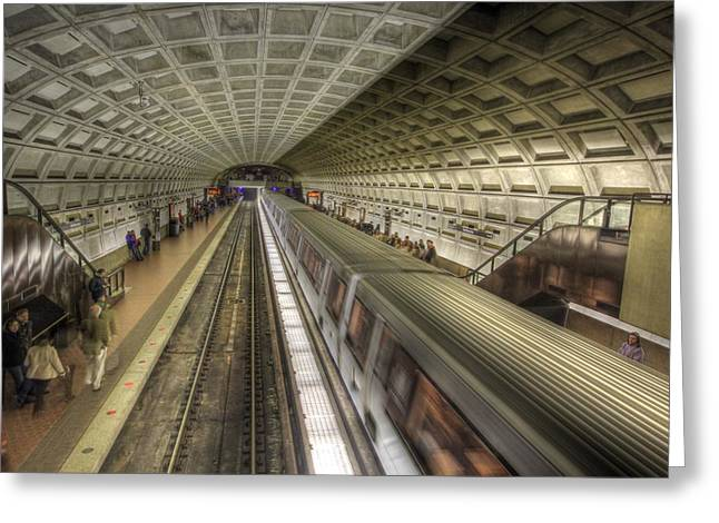 Smithsonian Greeting Cards - Smithsonian Metro Station Greeting Card by Shelley Neff