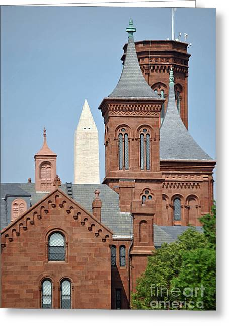 Smithsonian Museum Greeting Cards - Smithsonian Monument Greeting Card by Jost Houk
