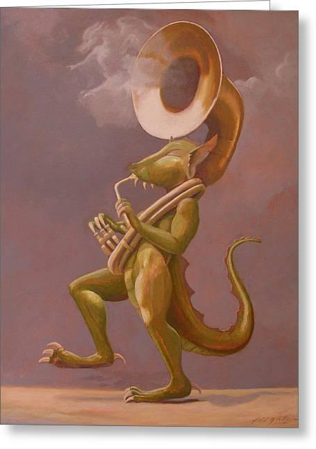 Smoke And Dragons Greeting Card by Leonard Filgate
