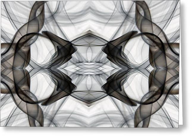Geometric Image Greeting Cards - Smoke and Mirrors Greeting Card by Patrick Ziegler