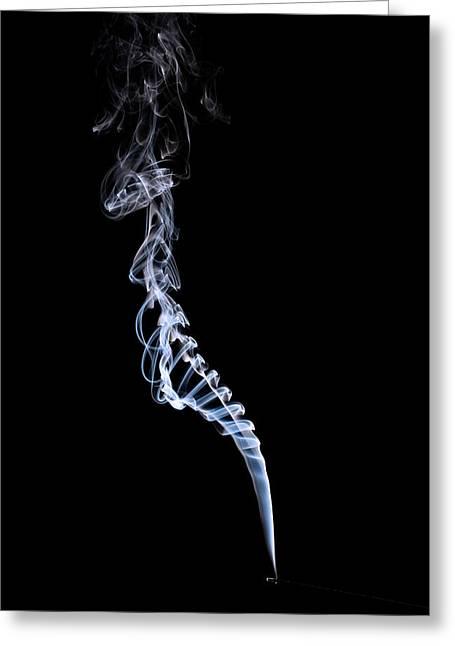 Smoke Pyrography Greeting Cards - Smoke Backbone Greeting Card by Rick Strobaugh