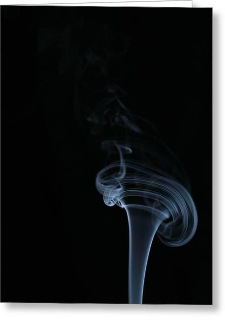 Smoke Pyrography Greeting Cards - Smoke Greeting Card by Cristofer Zorzetto