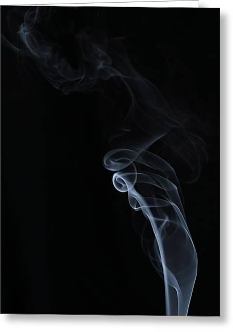 Smoke Pyrography Greeting Cards - Smoke free Greeting Card by Cristofer Zorzetto