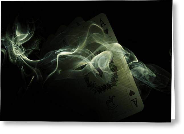 Smoke Greeting Card by Ivan Vukelic