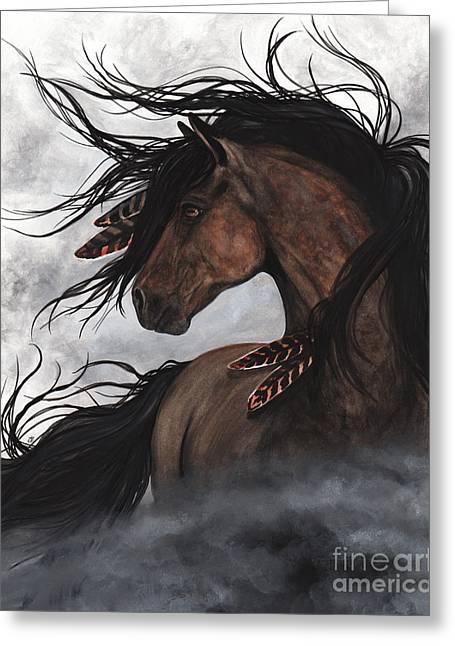 Smoke Majestic Horse Greeting Card by AmyLyn Bihrle