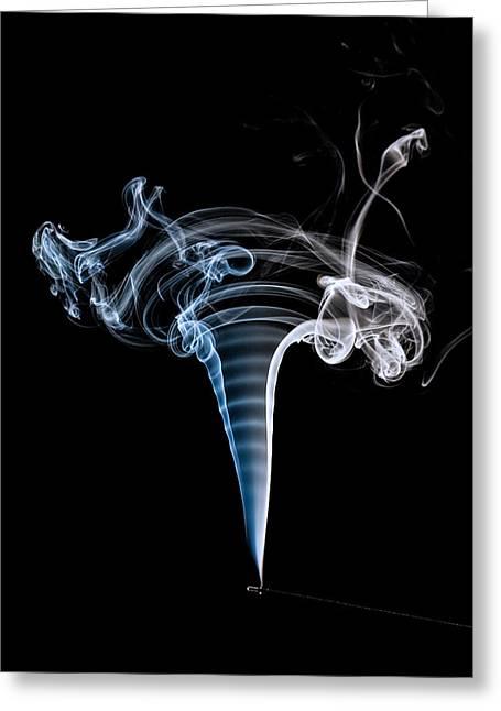 Smoke Pyrography Greeting Cards - Smoke Pattern Greeting Card by Rick Strobaugh
