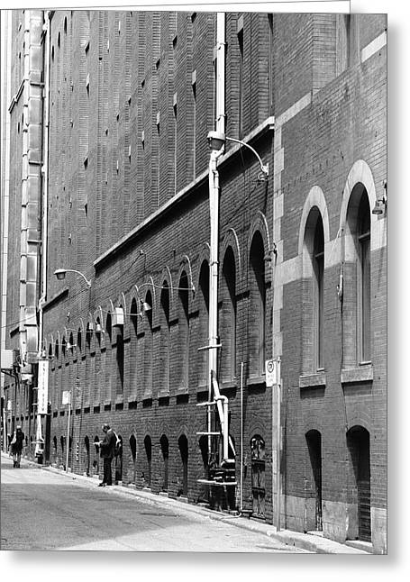 Smoker's Alley Greeting Card by Kreddible Trout