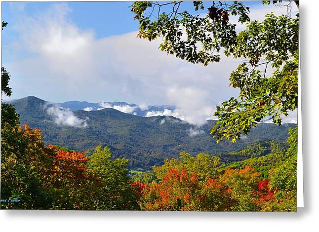 Recently Sold -  - Smokey Mountain Drive Greeting Cards - Smokey Mountain Mountain Landscape Greeting Card by James Fowler
