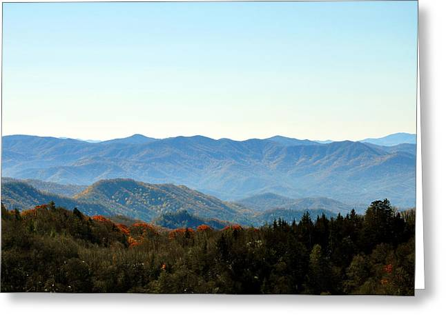 Smokey Mountains Greeting Card by Brittany H