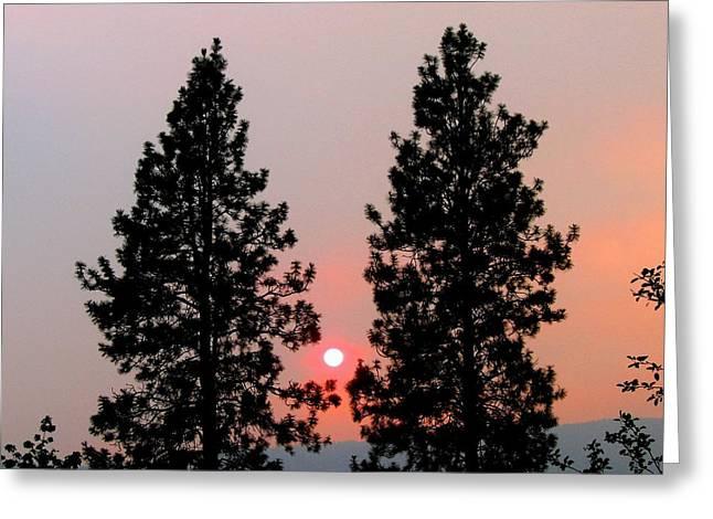 Smokey Okanagan Sunset Greeting Card by Will Borden