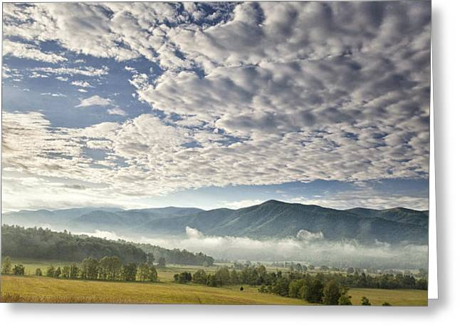Smokies Cloudscape Greeting Card by Andrew Soundarajan