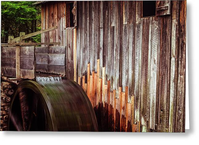 Water Mill Greeting Cards - Smokies Mill Greeting Card by Andrew Soundarajan