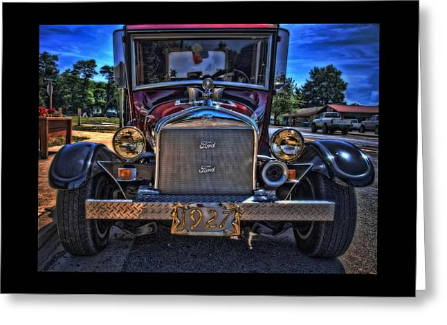 Ford Model T Car Greeting Cards - Smokin In Siletz Greeting Card by Thom Zehrfeld