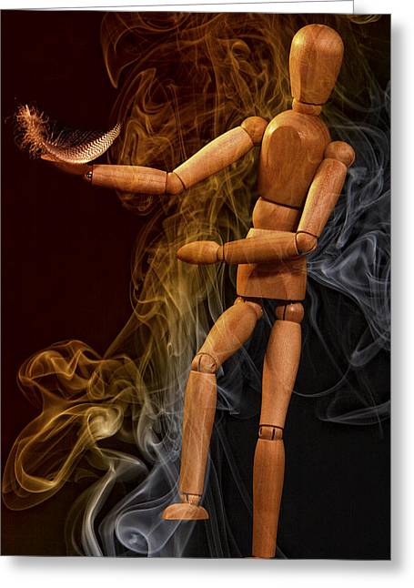 Smoking By Jean Noren Greeting Card by Jean Noren