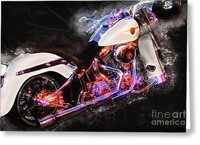 Smoking Hot Hog Harley Davidson 20161102 Greeting Card by Wingsdomain Art and Photography