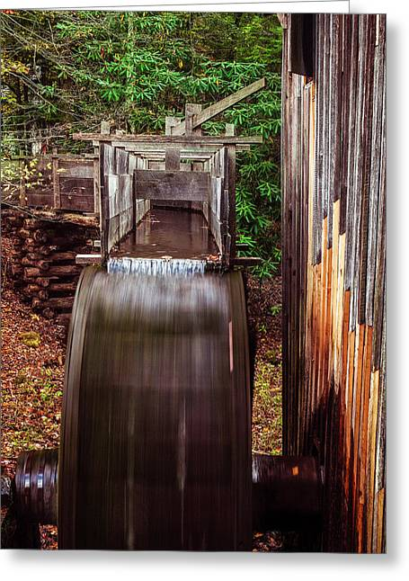 Grist Mill Greeting Cards - Smoky Mountain Mill Greeting Card by Andrew Soundarajan
