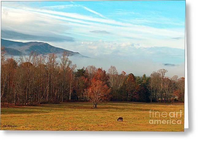 Gatlinburg Tennessee Greeting Cards - Smoky Mountain Sunrise Greeting Card by Sabrina Wheeler