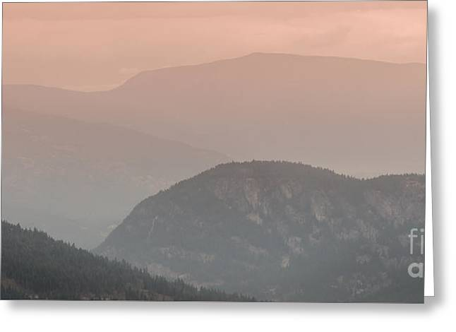 Mountain Valley Greeting Cards - Smoky Sunset Two Greeting Card by Tessa Parent