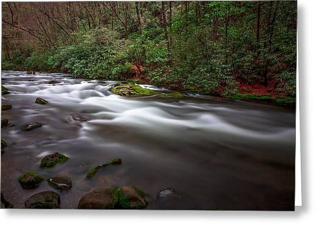 Mystical Landscape Greeting Cards - Smoky Waters Greeting Card by Bobby Palosaari