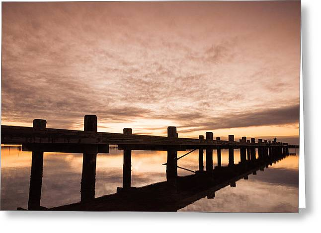 Smooth Bay Greeting Card by Kristopher Schoenleber
