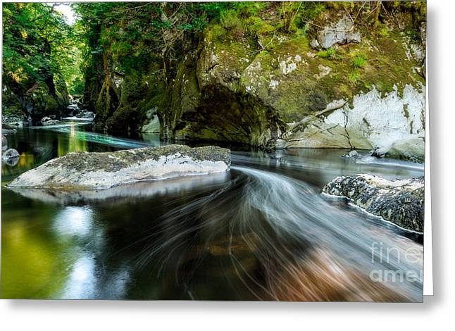 Smooth Flow Greeting Card by Adrian Evans