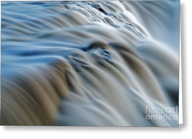 Water Flowing Greeting Cards - Smooth Flow Greeting Card by Colin Woods