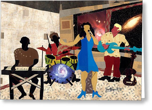 Smooth Jazz At City View Greeting Card by Everett Spruill