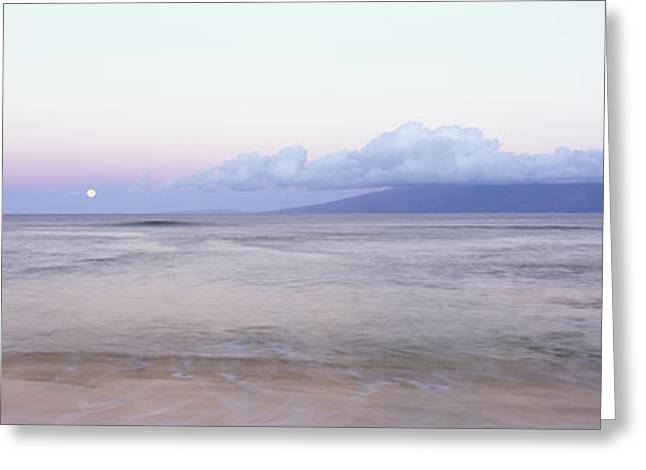 Amazing Sunset Greeting Cards - Smooth Ocean and Sky Greeting Card by Bill Schildge - Printscapes