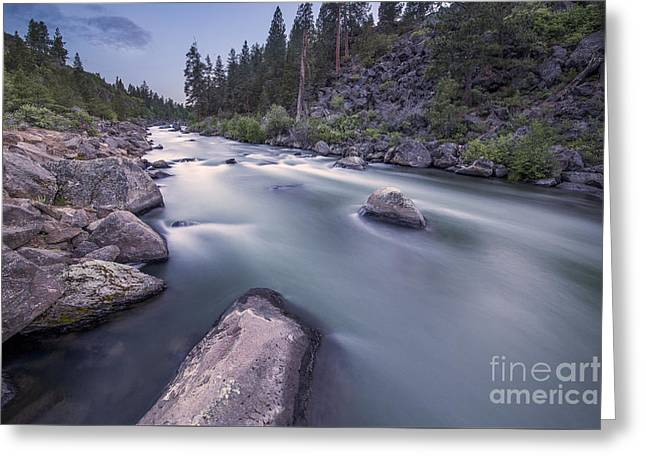 Deschutes River Greeting Cards - Smooth Rapids of Deschutes River Greeting Card by Twenty Two North Photography