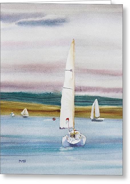 Sailboat Art Greeting Cards - Smooth Sailing Greeting Card by Melanie Harman