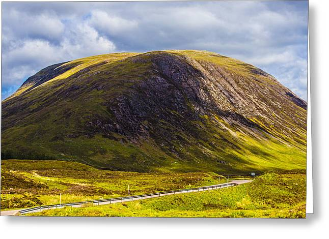 Road Travel Greeting Cards - Smooth-Top Mountain Greeting Card by Steven Ainsworth