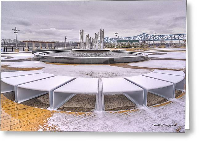 Smothers Park In Owensboro Kentucky Greeting Card by Wendell Thompson