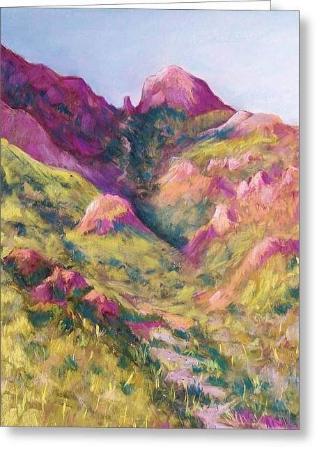 Mountain Valley Pastels Greeting Cards - Smugglers Gap Canyon Greeting Card by Candy Mayer