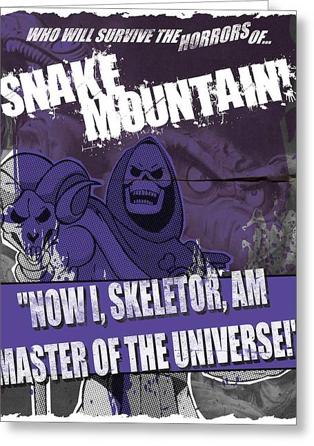 Skeletor Greeting Cards - Snake Mountain Greeting Card by Jeff Beck