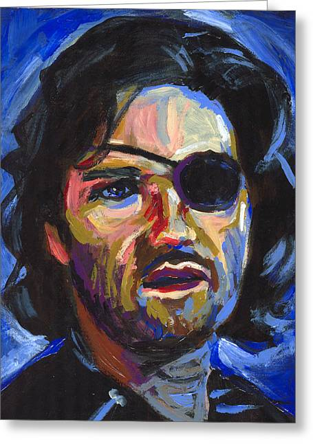 Patch Greeting Cards - Snake Plissken Greeting Card by Buffalo Bonker