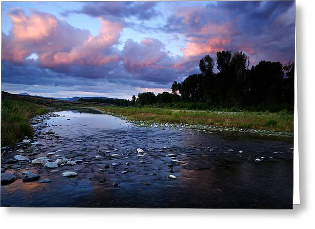 Snake River Greeting Card by Eric Foltz
