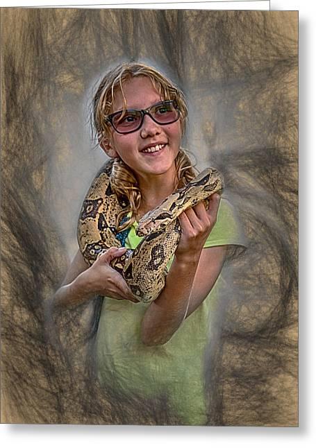 Snake Wrap Greeting Card by John Haldane